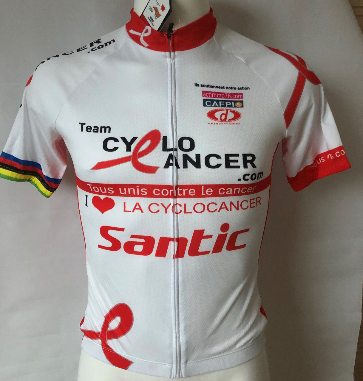 Maillot manches courtes blanc